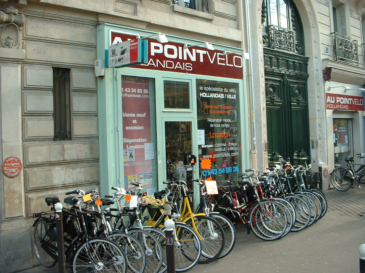 Au pointv lo hollandais for Au garage a velo paris